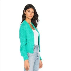 NWT Free People Glow For It Oasis Cardi Blue M